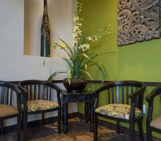 Cozy Waiting Area at Alluring Smiles in Mesa, AZ - Dr. Javier Portocarrero